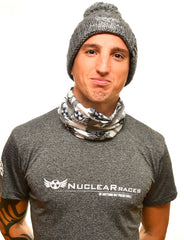 Nuclear Races Neck Tube Grey and White