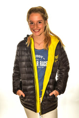Ladies Black Nuclear Races Puffa Coat Clearance 30% off
