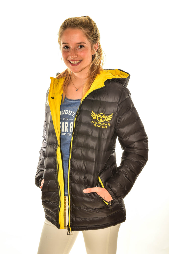 Ladies Black Nuclear Races Puffa Coat