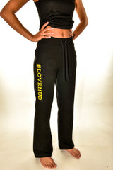 Ladies Black Nuclear Races jogging bottoms