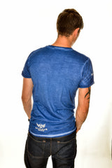 Mens Blue Muddy Fun Cotton T-shirt Clearance 40% off