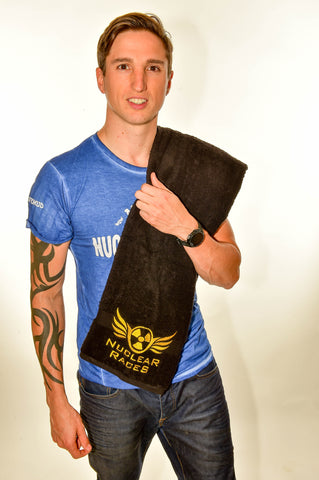 Black Nuclear Races Towel