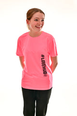 Kids Electric Pink #LoveMud Technical T-shirt