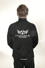 Mens New Black Mid-layer Nuclear Races Zip Jacket