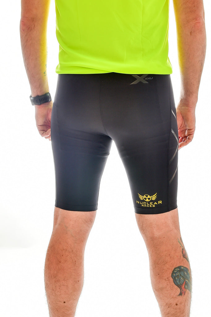 Mens 2XU Nuclear Races Compression Shorts