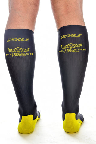 Mens 2XU Nuclear Races Socks