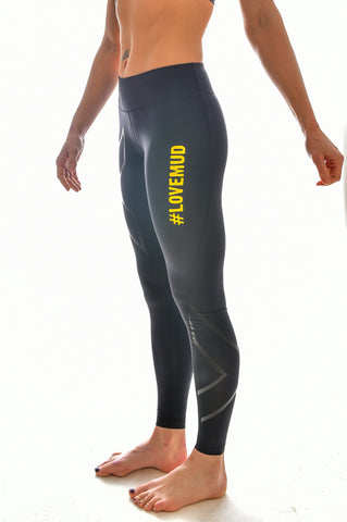 Ladies 2XU Nuclear Races Mid Rise Compression Tights
