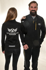 Ladies New Black Mid-layer Nuclear Races Zip Jacket
