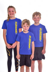 Kids Blue #LoveMud Technical T-shirt