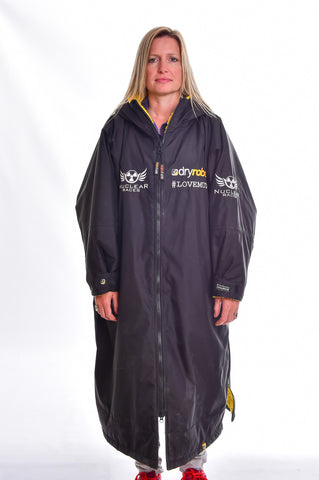 Nuclear Races branded Black Long Sleeved Dryrobe Advance