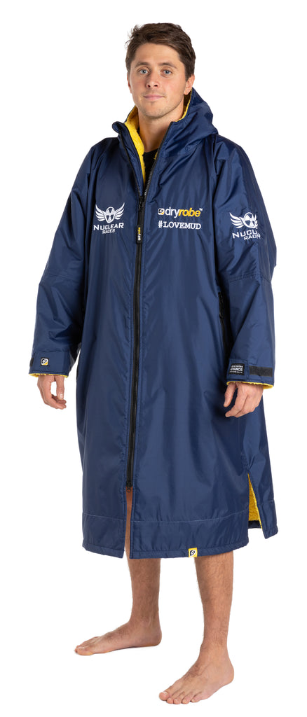 Nuclear Races branded Navy Long Sleeved Dryrobe