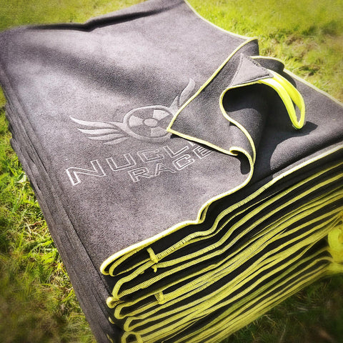 Black Nuclear Races Microfibre Towel