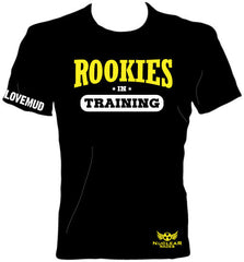 Kids Rookie in Training Black Cotton T-shirt