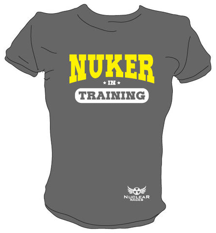 Ladies Grey Nuker in Training Cotton T-shirt Clearance 50% Off