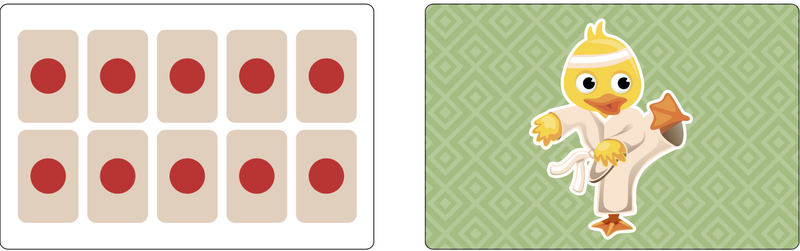 Fact Fluency Cards: Visualizing to 20.  Large Size.