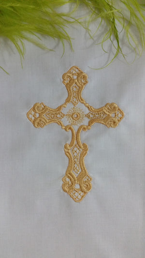 Golden Filigree Cross 8x8