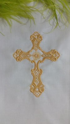 Golden Filigree Cross 5x7