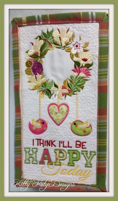 Be Happy Wall Hanging 8x8