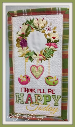 Be Happy Wall Hanging 7x12