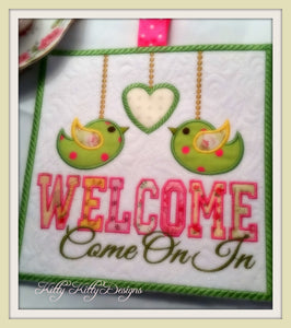 Welcome Sign 8x8