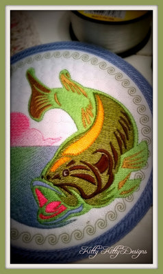 Bass Fishing Mug Mat 6x6
