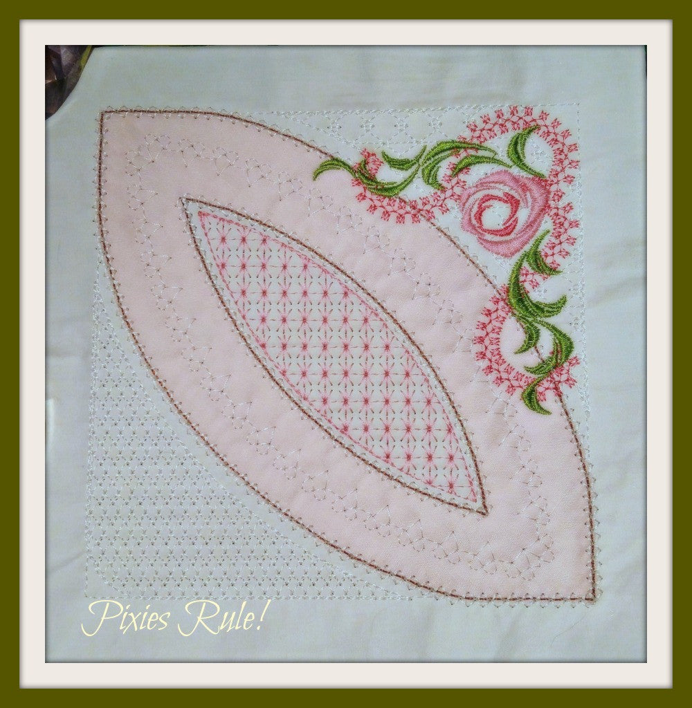 Double Wedding Ring Quilt.Mock Double Wedding Ring Quilt 6x6