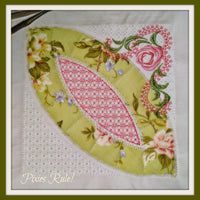 Mock Double Wedding Ring Quilt 8x8