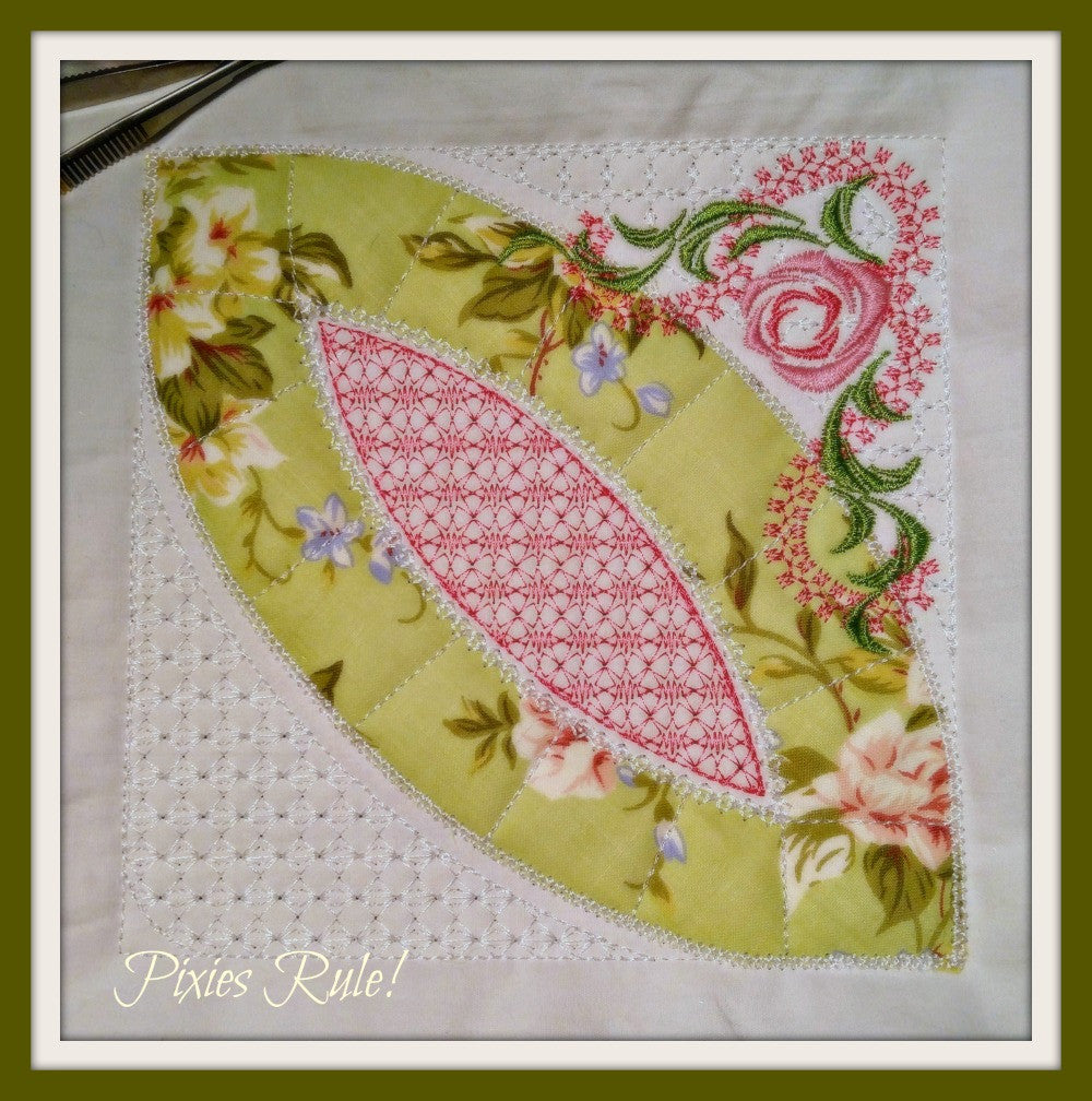 Double Wedding Ring Quilt.Mock Double Wedding Ring Quilt 8x8