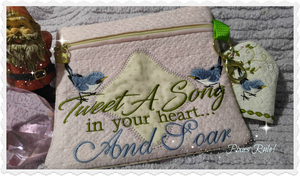 Tweet A Song 5x7 Zipper Pouch