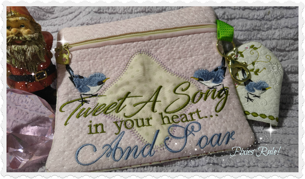 Tweet A Song 8x8 Zipper Pouch