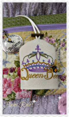 Queen Bee Vinyl Key Holder