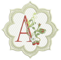 Alpha & Berries Lace Edge Coaster