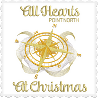 All Hearts Point North At Christmas 6x6
