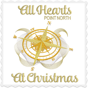 All Hearts Point North At Christmas 8x12