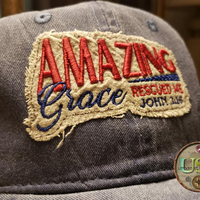 Amazing Grace Rescued Me Rag Cap