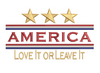 America - Love It or Leave It 5x7
