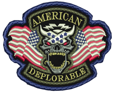 American Deplorable Patch Stitched