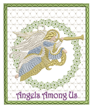 Angels Among Us Ornament Card