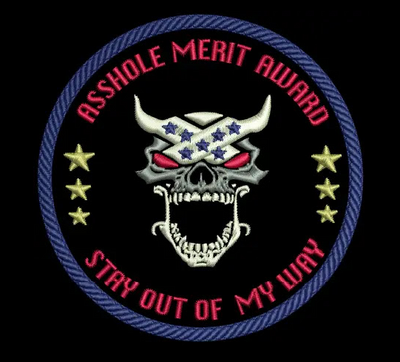 Asshole Merit Patch Stitched
