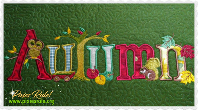 Autumn Joy Applique 8x14