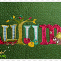 Autumn Joy Applique 6x10