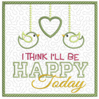 Be Happy Today Mug Mat 6x6