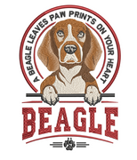 Paws Of The Heart - Beagle 5x7