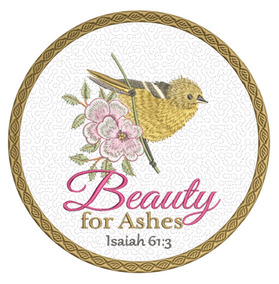 Beauty For Ashes Mug Mat - 8x8