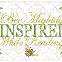 Bee Mightily Inspired Reading Pillow 7x11