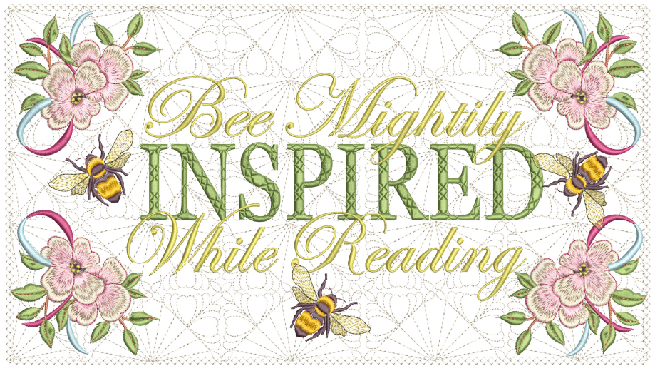 Bee Mightily Inspired Reading Pillow 8x14