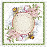 Bee Peaceful Checkbook Cover 8x8