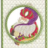Believe In Santa Ornament Card