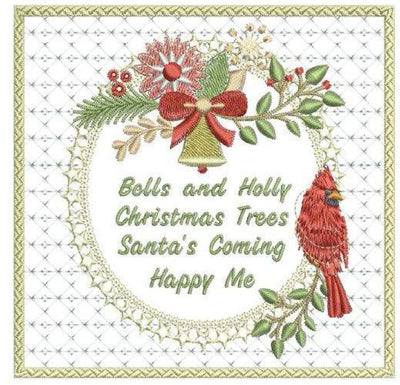 Bells & Holly Frame