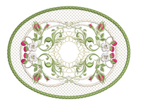 Berries & Blossoms Mug Mat - 8X8
